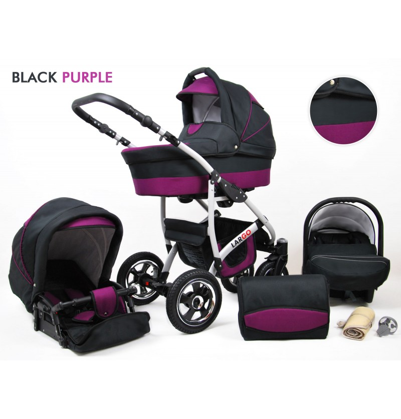 Largo 3 in 1 Black Purple