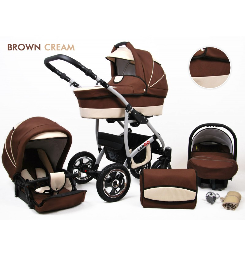 Largo 3 in 1 Brown Cream