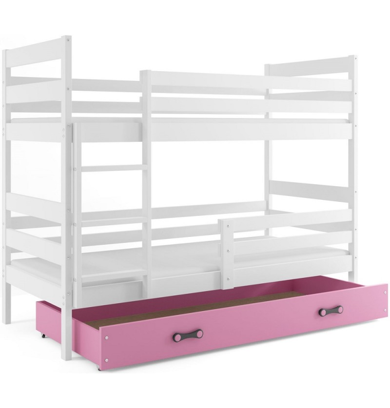 Stapelbed Eric wit/roze