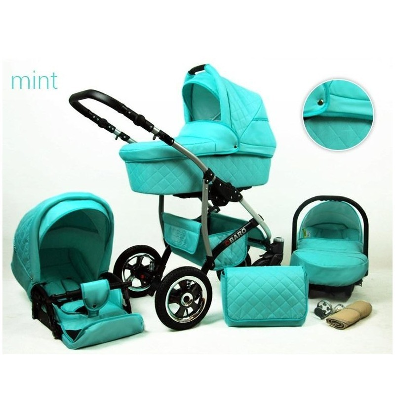 Kinderwagen Qbaro 3 in 1mint