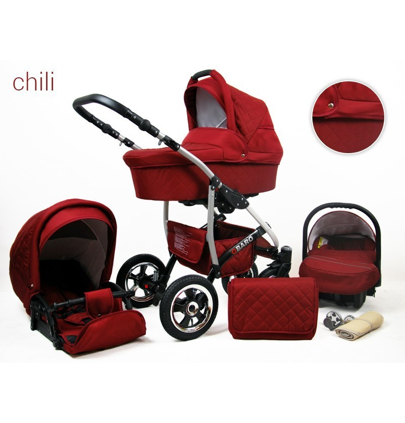 Kinderwagen Qbaro 3 in 1 chili
