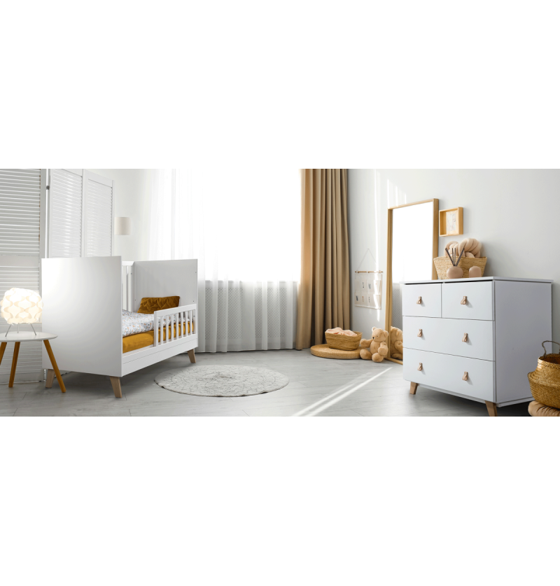 Babykamer Noah wit/naturel