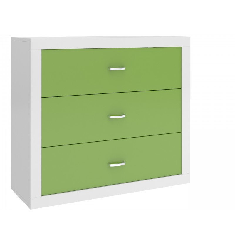 Commode Sam wit/groen