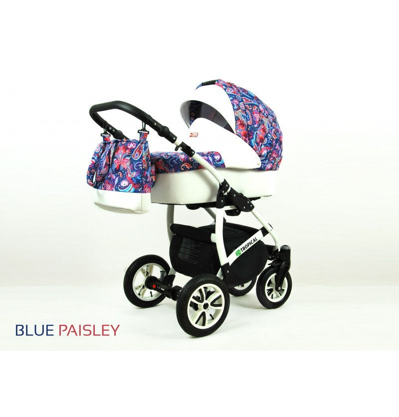 Tropical 3 in 1 Blue Paisley